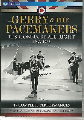 Gerry & The Pacemakers It's Gonna Be All Right Dvd 1963 - 1965, 17 Performances