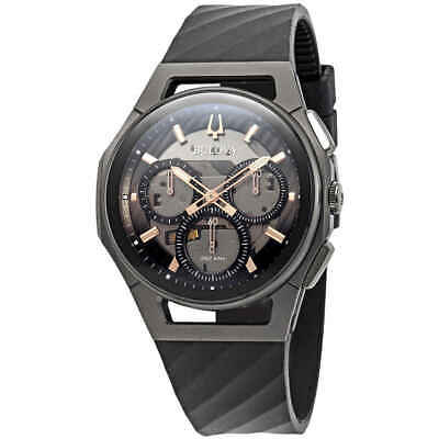 Bulova Curv Chronograph Dark Gray Dial Men's Watch 98A162