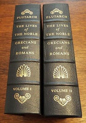 Easton Press The Lives Of The Noble Grecians And Romans Vol. 1&2 Plutarch !