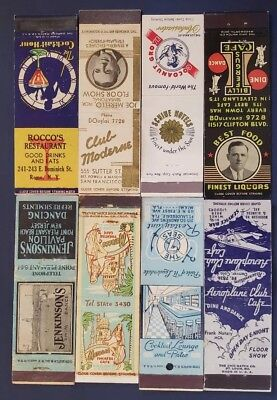 8 old Matchbook Covers