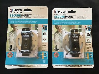 Moen Home Care Secure Mount Anchors No Stud Required New In Box