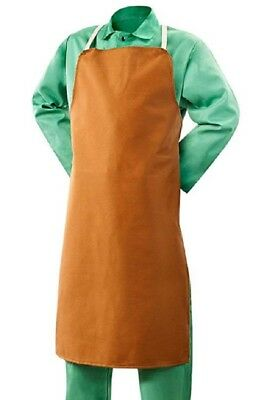 "STEINER 10126 Welding Bib Apron 25"" W X 40"" Long Buctan 12 oz. FR Cotton"