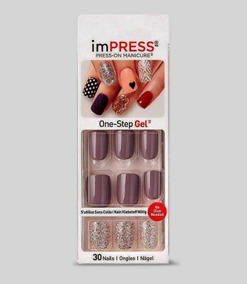 imPRESS Nails SHIMMER n7 Künstliche Fingernägel Press-On Nails Kiss/Broadway