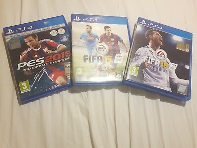Ps4 Playstation Games Giochi Pack Fifa 18 + Fifa 15 + Pes 15