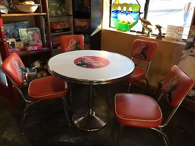 Vintage Coca-Cola Table & 4 Chairs, Diner Set