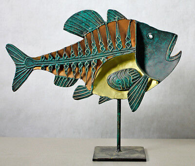 Hand-Crafted All Metal Modern Fish Sculpture