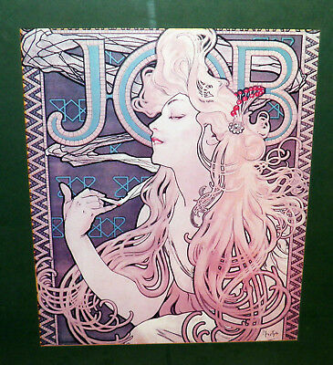 MUCHA Alfonse JOB Rolling Papers Girl 2 Vintage Framed 17.5x21.5 Ready 2 Hang