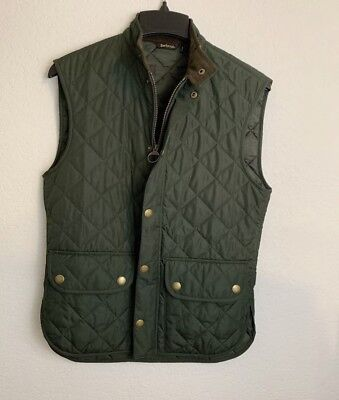 Mens Barbour Lowerdale Quilted Vest   XL   Olive Green