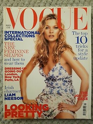 Vogue Magazine UK March '05, International collections,Top 10 style tricks, cake