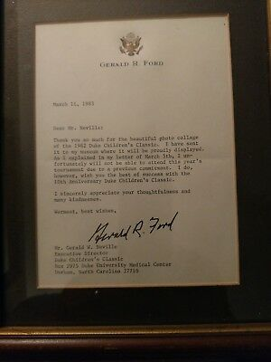 Gerald Ford Signed Letter Bold Signature