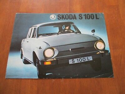 (1493) Skoda 100L brochure prospekt early 1970's