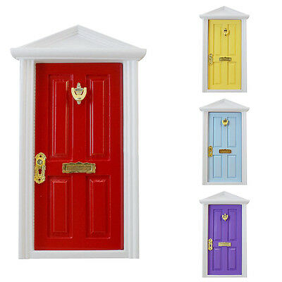1:12 Dollhouse mini Wood Fairy Door DIY Assembled With Metal Accessories SELL
