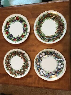 13 Lenox Colonial Christmas Wreath Plates Complete Limited Edition