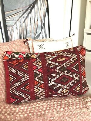 Vintage kilim berber cushion cover, pillow, moroccan - 60x40 cm