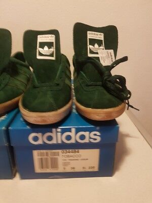 14734fd65e9a04 Adidas Vintage Shoes Tobacco Green New In Box Hungary Rare Uk 5 Last Pair