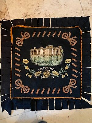 Beautiful Felt Pillow Cover PPIE Panama Pacific Expo 1915 Palace Of Fine Arts