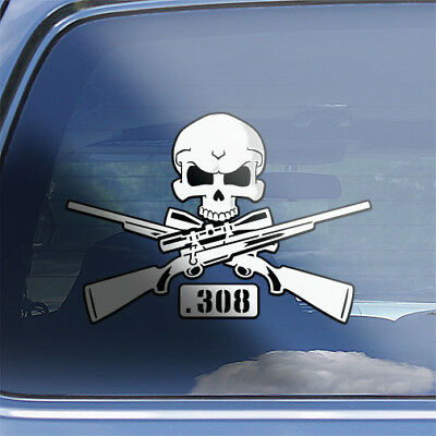 Big game hunters .308 cal firearm rifle sticker Hunting Rifle .308 Oval Decal