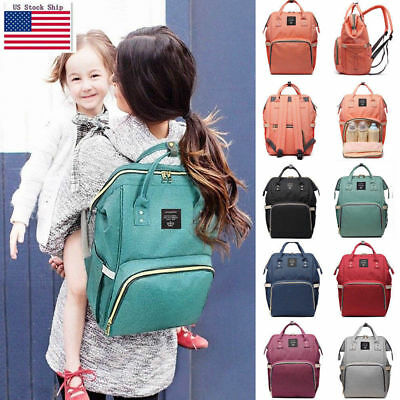 Baby Diaper Bag Multi-Function Travel Backpack Baby Nappy Changing Mommy Bags US