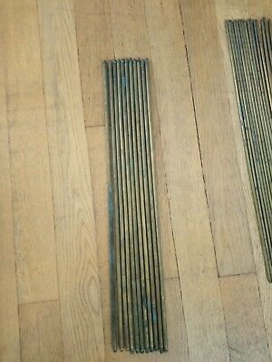 11 x vintage brass stair rods reclaimed carpet set