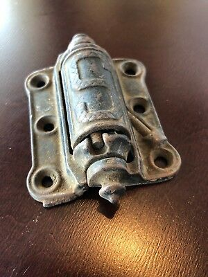 Vintage Stover Manufacturing Co. Spring Loaded Cast Iron Door Hinge Freeport, IL