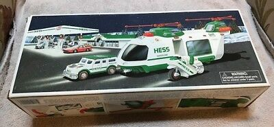Hess Toy Truck Helicopter With Motorcycle And Cruiser 2001 Limited Release New