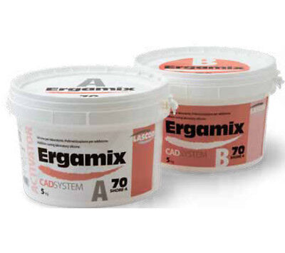 Ergamix 70 Shore CAD Silicone Can Be Milled & Scanned For Dental Lab 2 X 1.5KG