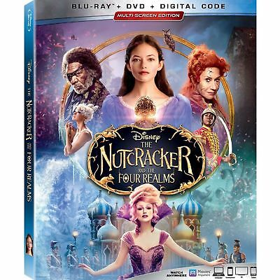Nutcracker and the Four Realms Blu-ray & slip cover-NO DVD or Digital Ships Now