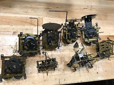 Cuckoo Clock Movements - Assortment for Parts and Repair