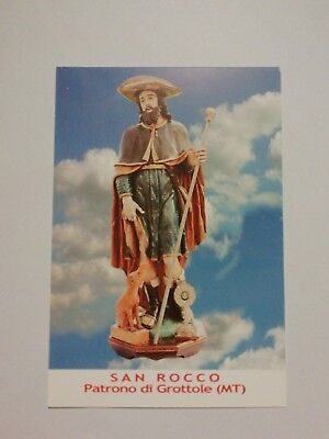 Santino HOLY CARD San Rocco di Montpellier - Grottole (MT)