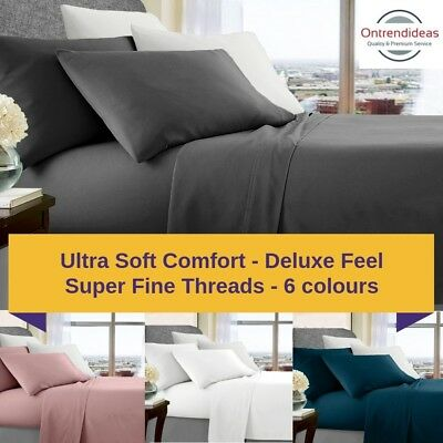 750TC Ultra Soft Premium Microfibre Sheet Set | Deluxe Soft Feel | Poly Sheets