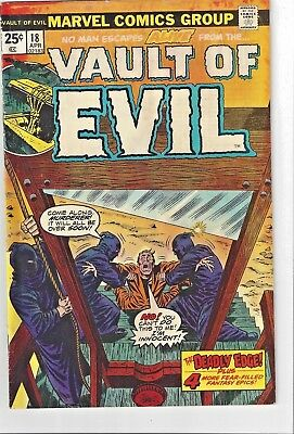 Vault of Evil #18 1975 Vintage Comic Book 1975 No Reserve More In Our Store!