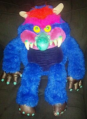 Vintage 1986 Amtoy My Pet Monster Stuffed Toy No Cuffsvery Cool