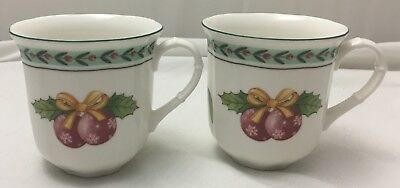 Villeroy & Boch FRENCH GARDEN NOEL mugs - 2 pieces - NEW NWL 1st Christmas