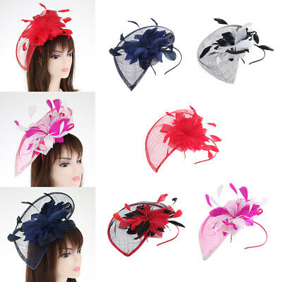 Women's Wedding Feather Fascinator Headband Derby Hat 1920s  Headpiece