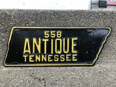 Tennessee Antique License Plate - Horseless Vintage Ford Chevy - TN - 558