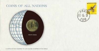 South Korea 10 won 1979 FDC UNC Coins Of All Nations UNCIRCULATED STAMP COVER