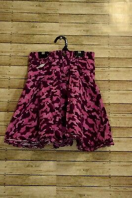 The Childrens Place Pink Camo Skirt Tiered Ruffles MODEST Size 8