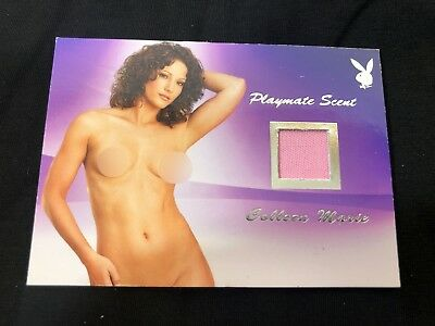 Colleen Marie Playboy Centerfold Update Swatch Memorabilia Card HOT Silver