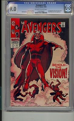 Avengers #57 Cgc 9.0 1St Vision Silver Age