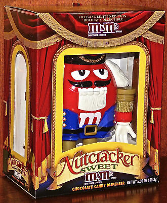 The Holiday Nutcracker Sweet M&M Chocolate Candy Dispenser, Rare Red Never Used.