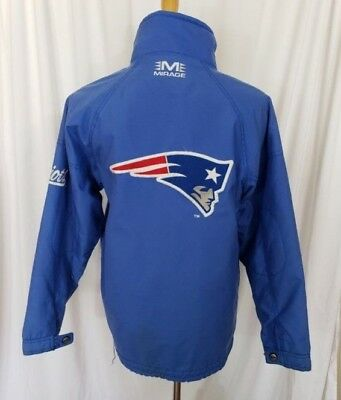 f9e22abb0 Vintage New England Patriots Throwback Jacket Mirage Retro 14-16 Kids L  Mens S