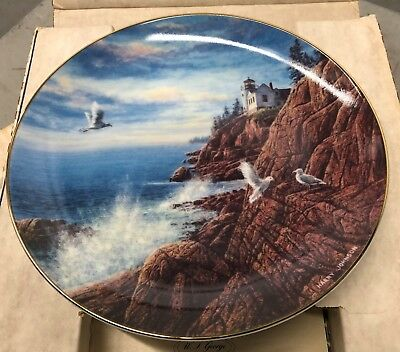 Acadia Collectors Plate - Johnson - Sixth in series - America the Beautiful 1990