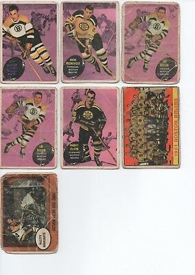 Topps 1961-62 Boston Bruins Cards Small Lot