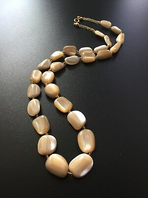 "Vintage Mother Of Pearl 18"" Beaded Necklace"