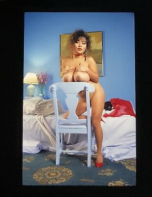 Nude Super Busty Asian Classic Vintage  Pin Up Model 35Mm Slide Transparency