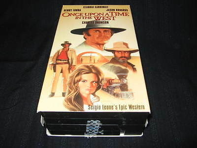 Once Upon A Time In The West Vhs Charles Bronson Henry Fonda Cardinale Robards