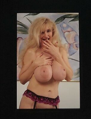 Nude Super Busty Classic Vintage  Pin Up Model 35Mm Slide Transparency