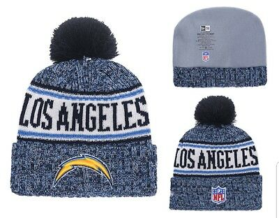 799a4d3b710 2018 Los Angeles Chargers New Era NFL Knit Hat On Field Sideline Beanie Hat