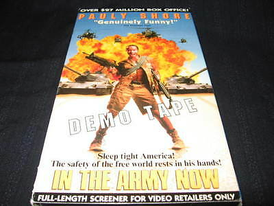In The Army Now Vhs Pauly Shore Andy Dick Lori Petty Screener Demo Tape Oop