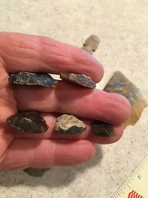 (12)indian artifacts, authentic Knife River Flint (Bag 1)